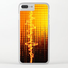 Sound wave orange Clear iPhone Case