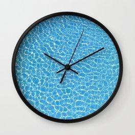 Blue Swimming Pool Water Wall Clock