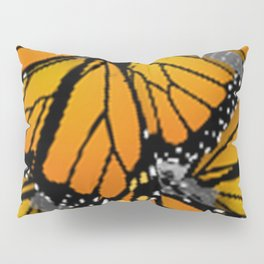 MONARCH BUTTERFLIES MONTAGE NATURE DESIGN Pillow Sham