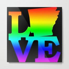Arkansas Pride USA State Love Map Metal Print