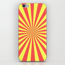 Starburst (Red & Yellow Pattern) iPhone Skin