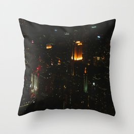 Chicago Skyline Light Show (Chicago Architecture Collection) Throw Pillow