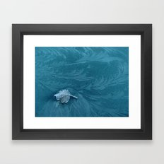 a leaf in the current Framed Art Print