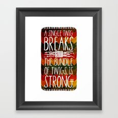 Tecumseh Quote Framed Art Print
