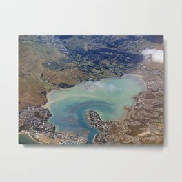 Fly Over New Zealand Metal Print