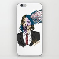 kurt cobain iPhone & iPod Skins featuring Kurt Gore Cobain by Alexalco5