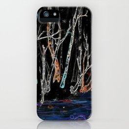 Nature's Glow Stick Party iPhone Case