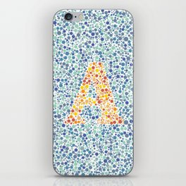 """A"" Eye Test Full iPhone Skin"