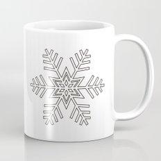 Snowflake | Black and White Mug