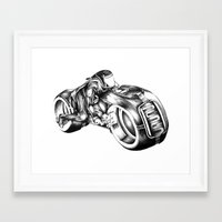 tron Framed Art Prints featuring tron by liz williams