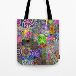 Psychedelic Montage Tote Bag