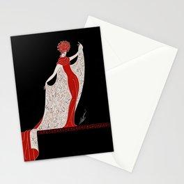 """Art Deco Fashion Design """"Alphabet Cloak"""" Stationery Cards"""