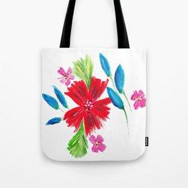 Vintage Floral Spray Tote Bag