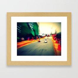 Race Framed Art Print