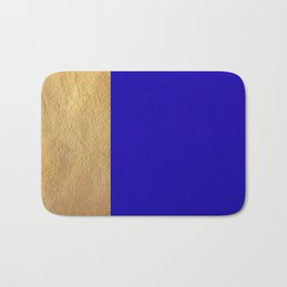 Color Blocked Gold & Cerulean Bath Mat