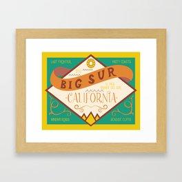 Big Sur Vintage Lettering Framed Art Print