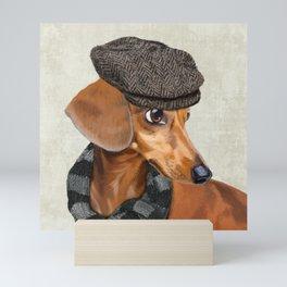 Elegant Mr. Dachshund Mini Art Print