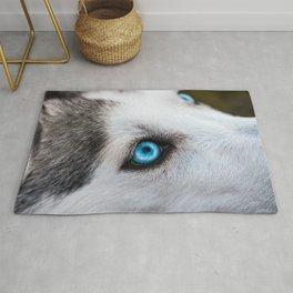 Siberian Husky Eyes (Color) Rug