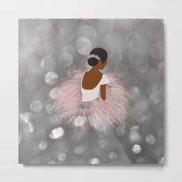 African American Ballerina Dancer Metal Print