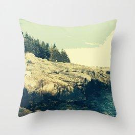 Ocean Point, East Boothbay Throw Pillow