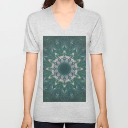Amazon Emerald Gemstone Mandala No. 39 Unisex V-Neck