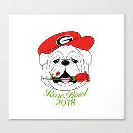 UGA Rose Bowl Bulldog Canvas Print