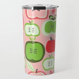 Retro Apples Travel Mug