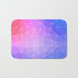 Abstract Colorful Flashy Geometric Triangulate Design Bath Mat