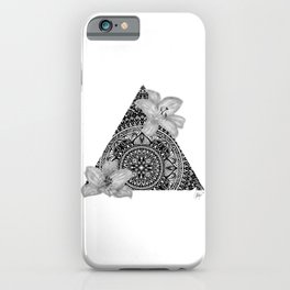 Consider the Lilies Geometric Design iPhone Case