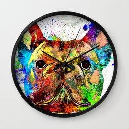 French Bulldog Grunge Wall Clock
