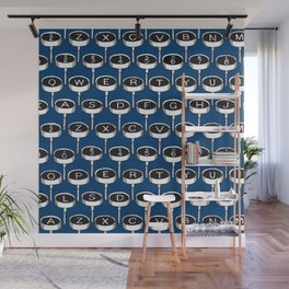 Infinite Typewriter_Blue Wall Mural