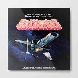Vintage Battlestar Galactica Metal Print