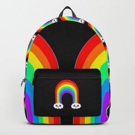 Happy Rainbow (Single On Black) Backpack