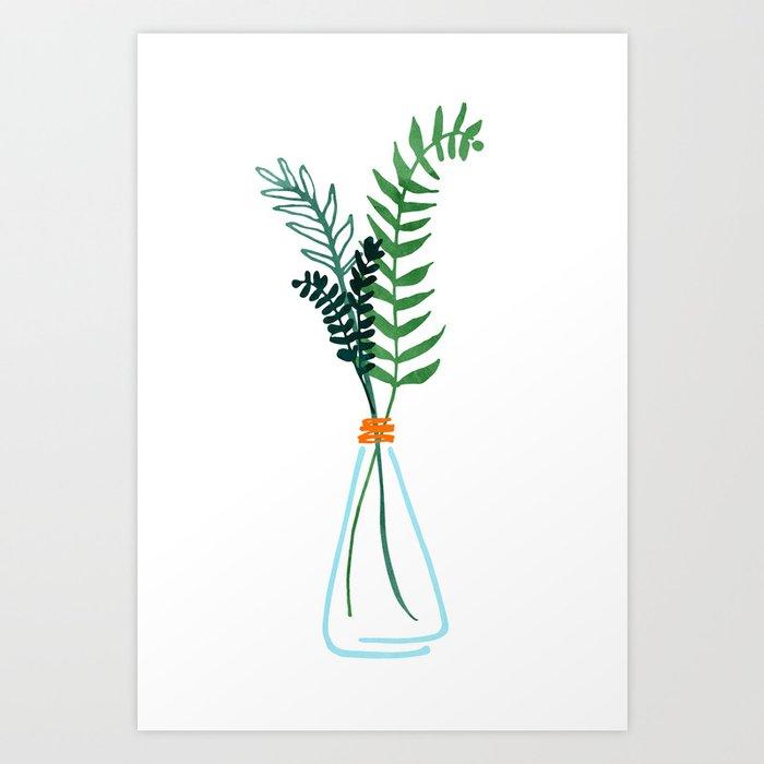 Winter Herbs / Botanical Illustration Art Print