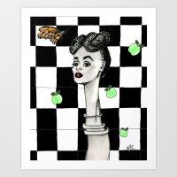 Inspired by Janelle Monae Art Print