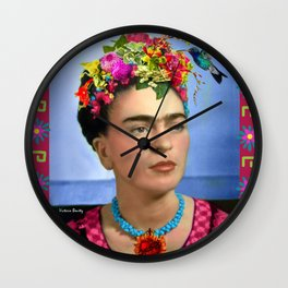 FRIDA KAHLO Y FLORES Wall Clock