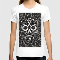 cracked T-shirts featuring Cracked SKULL by MehrFarbeimLeben
