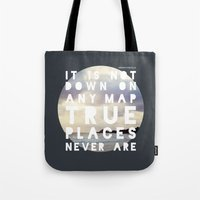 maps Tote Bags featuring Maps(2) by Tina Crespo