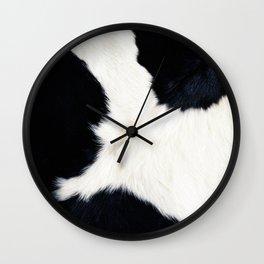 Farmhouse Cowhide Wall Clock