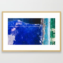 Sapphire Blue Framed Art Print