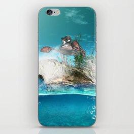 Funny crab iPhone Skin