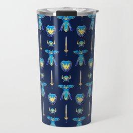 Erdrick's Equipment - Dark Blue Travel Mug
