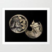 Darth Vader and Luke Skywalker -Redemption Art Print