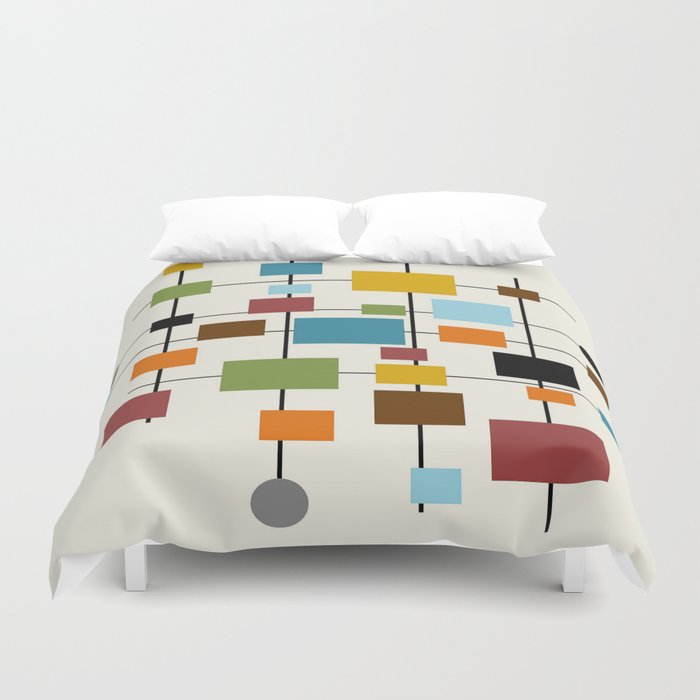 Mid Century Modern Art 1.3 Duvet Cover by oldurbanfarmhouse | Society6