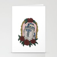 r2d2 Stationery Cards featuring R2D2 by Bare Wolfe