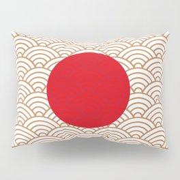 Ornamented Japanese Flag Pillow Sham