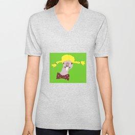 Spunky Turkey Yellow Hair GB Unisex V-Neck