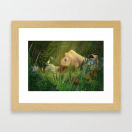 Tiny Friend Framed Art Print