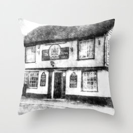 The Coopers Arms Pub Rochester Vintage Throw Pillow