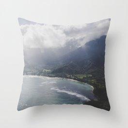 Hanalei Bay - Kauai, Hawaii Throw Pillow